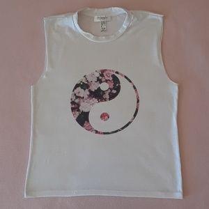 Freshtops Yin & Yang Sleeveless T-shirt